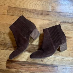 Re-List Vince Brown Suede Hader Booties size 6